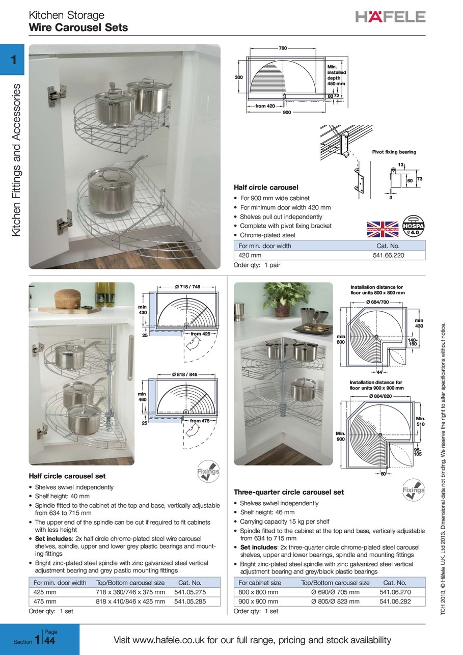 Wire Carousel Sets 3 Prong 220v Wiring Diagram What Is X Kitchen Storage T C H Tch 2 0 1 2013 F E L Hfele D Ltd I O N A Ional Data Not W R S V