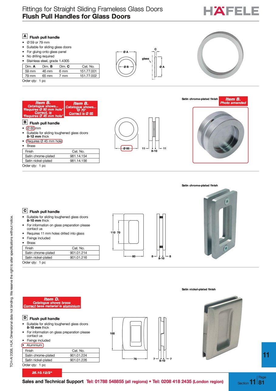 Fittings For Straight Sliding Frameless Glass Doors Flush Pull Handles T C H A I Tchai 2 0 8 2008 U K Huk O N L Ional D Data
