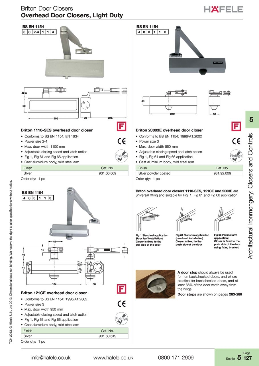 Briton Door Closers Overhead Door Closers Light Duty T-C-H TCH 2-0-1-3 2013 H-ä-f-e-l-e Häfele L-t-d Ltd 2-0-1-3 2013 i-o-n-a-l ional d-a-t-a data n-o-t not ...  sc 1 st  Hafele & Overhead Light Duty